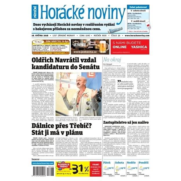 Horácké noviny - Pátek 18.5.2018 č. 036 - Elektronické noviny