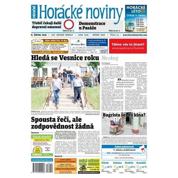 Horácké noviny - Pátek 8.6.2018 č. 042 - Elektronické noviny