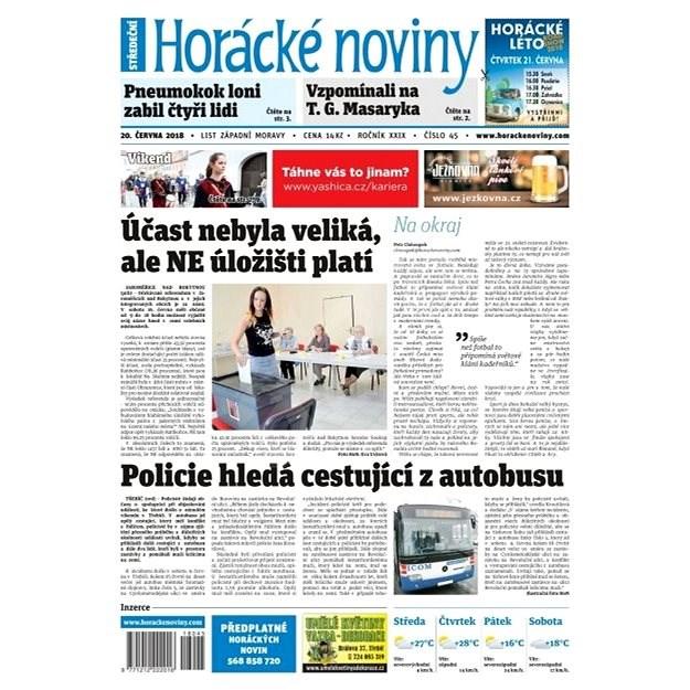 Horácké noviny - Středa 20.6.2018 č. 045 - Elektronické noviny