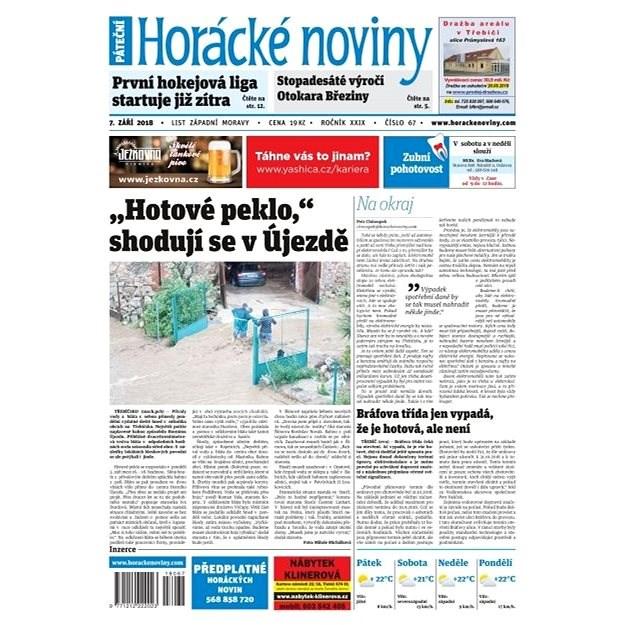 Horácké noviny - Pátek 7.9.2018 č. 067  - Elektronické noviny