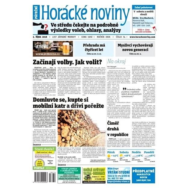 Horácké noviny - Pátek 5. 10. 2018 č. 074 - Elektronické noviny
