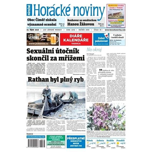 Horácké noviny - Pátek 19.10.2018 č. 078 - Elektronické noviny