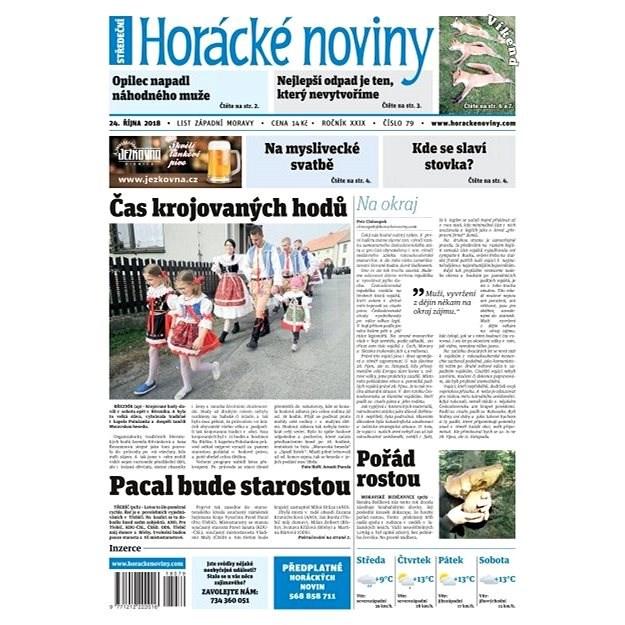 Horácké noviny - Středa 24.10.2018 č. 079 - Elektronické noviny