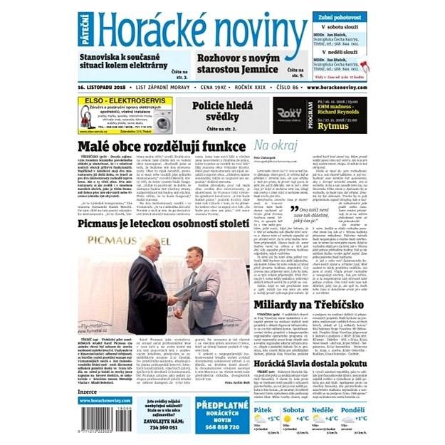 Horácké noviny - Pátek 16.11.2018/86 - Elektronické noviny