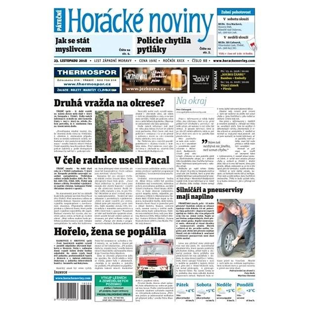 Horácké noviny - Pátek 23.11.2018 č. 088 - Elektronické noviny