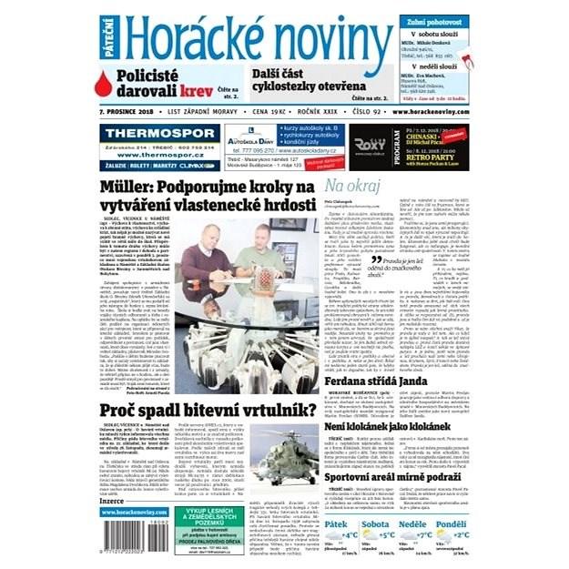 Horácké noviny - Pátek 7.12.2018 č. 092 - Elektronické noviny