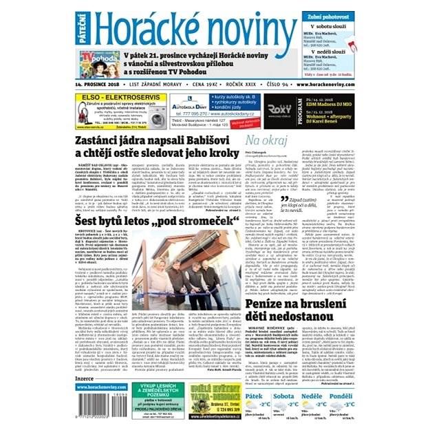Horácké noviny - Pátek 14.12.2018 č. 094 - Elektronické noviny