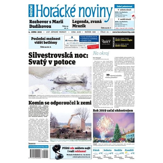 Horácké noviny - Pátek 4.1.2019 č. 001 - Elektronické noviny