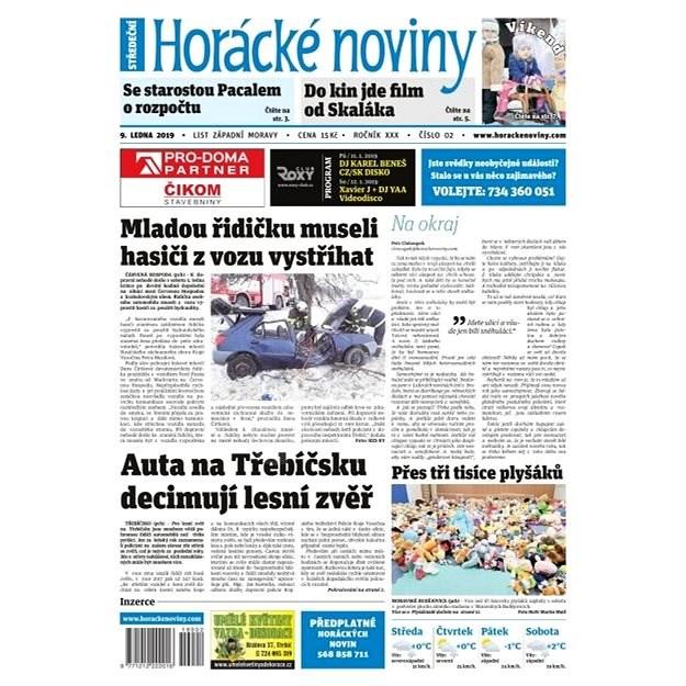 Horácké noviny - Středa 9.1.2018 č. 002 - Elektronické noviny