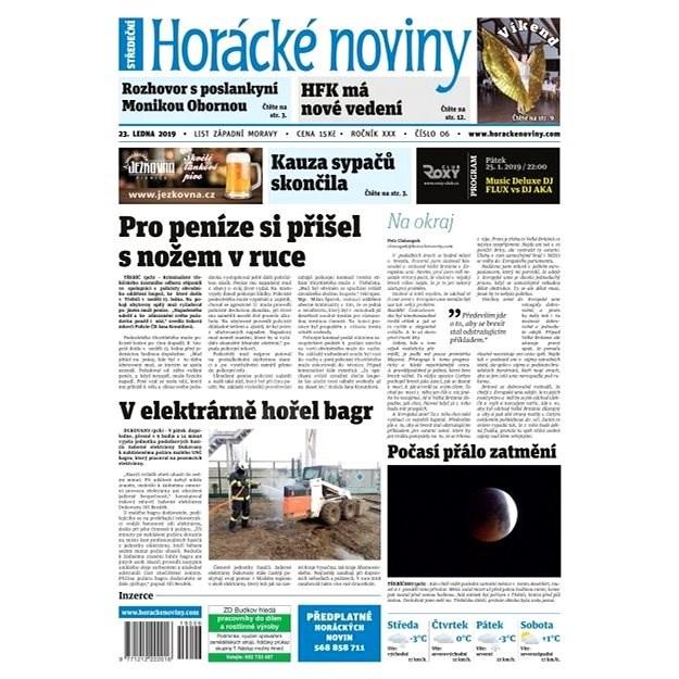 Horácké noviny - Středa 23.1.2019 č. 006 - Elektronické noviny