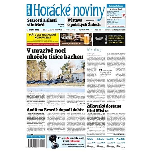 Horácké noviny - Pátek 1.2.2019 č. 009 - Elektronické noviny