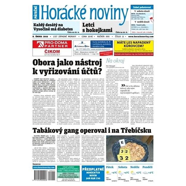 Horácké noviny - Pátek 8.2.2019 č. 011 - Elektronické noviny