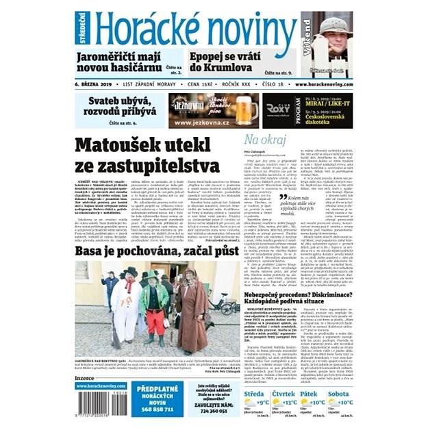 Horácké noviny - Středa 6.3.2019 č. 018 - Elektronické noviny