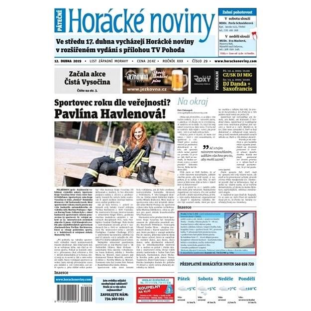 Horácké noviny - Pátek 12.4.2019 č. 029 - Elektronické noviny