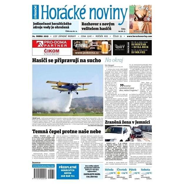 Horácké noviny - Středa 24.4.2019 č. 031 - Elektronické noviny