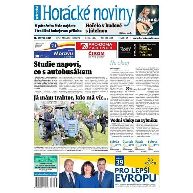 Horácké noviny - Středa 22.5.2019 č. 037 - Elektronické noviny