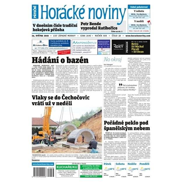Horácké noviny - Pátek 24.5.2019 č. 038 - Elektronické noviny