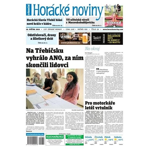 Horácké noviny - Středa 29.5.2019 č. 039 - Elektronické noviny