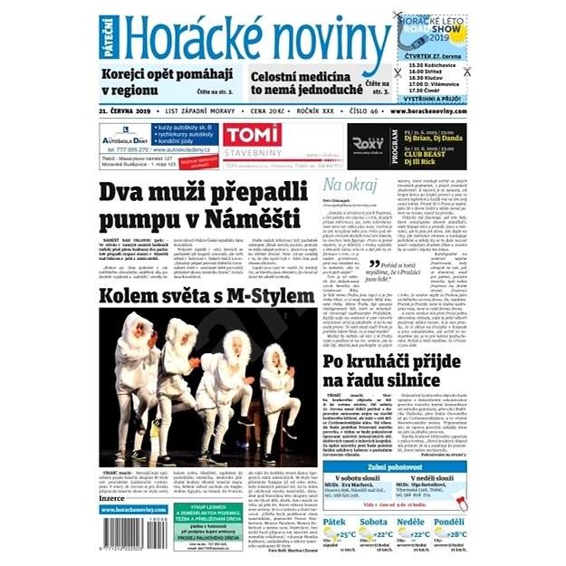 Horácké noviny - Pátek 21.6.2019 č. 046 - Elektronické noviny