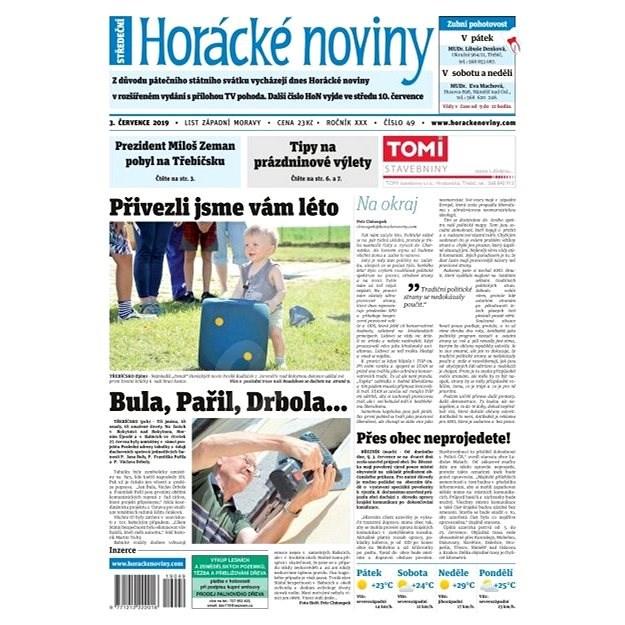 Horácké noviny - Středa 3.7.2019 č. 049 - Elektronické noviny