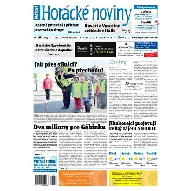 Horácké noviny - Pátek 20.9.2019 č. 071 - Elektronické noviny