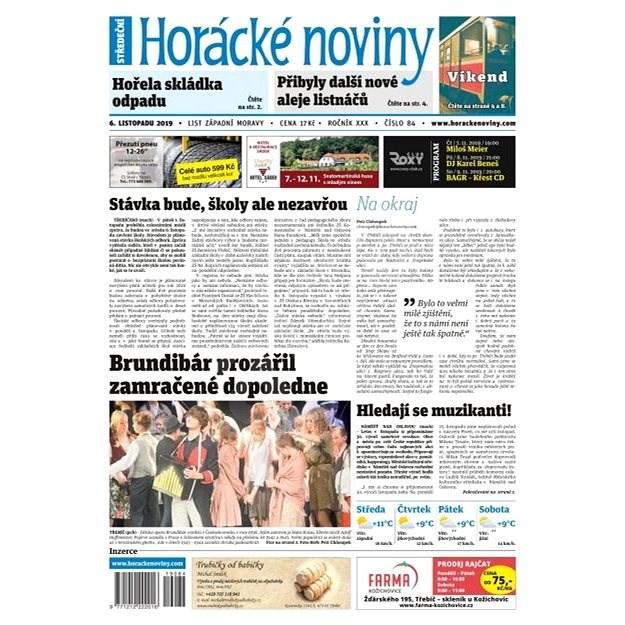 Horácké noviny - Středa 6.11.2019 č. 084 - Elektronické noviny