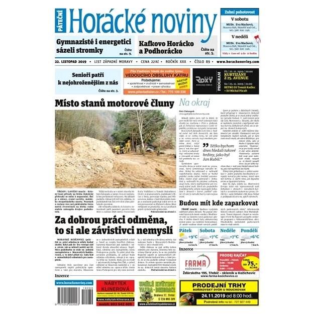 Horácké noviny - Pátek 22.11.2019 č. 089 - Elektronické noviny