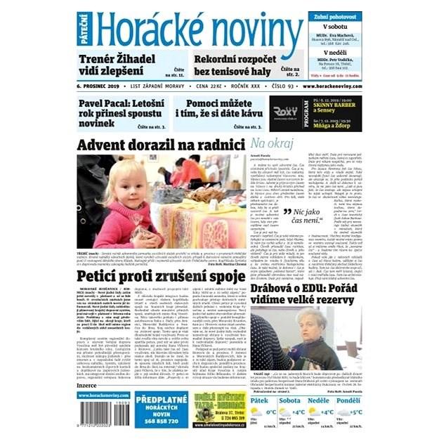 Horácké noviny - Pátek 6.12.2019 č. 093 - Elektronické noviny