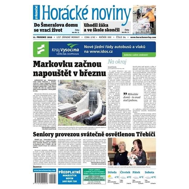 Horácké noviny - Středa 11.12.2019 č. 094 - Elektronické noviny