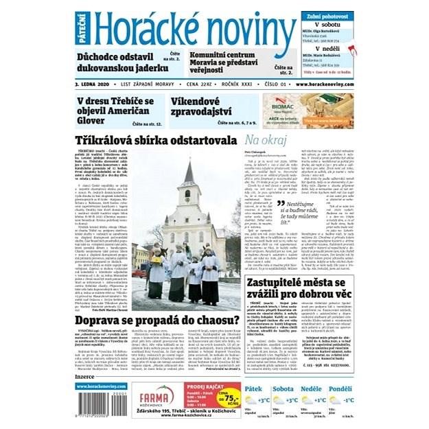 Horácké noviny - Pátek 3.1.2020 č. 001 - Elektronické noviny
