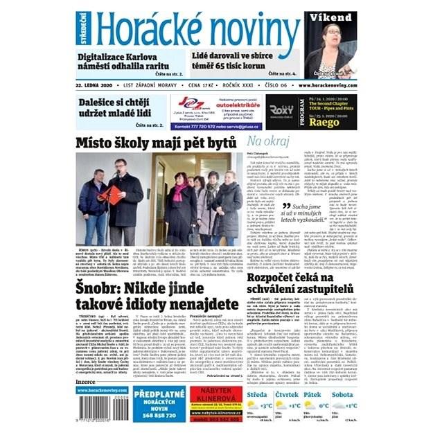 Horácké noviny - Středa 22.01.2019 č. 006 - Elektronické noviny
