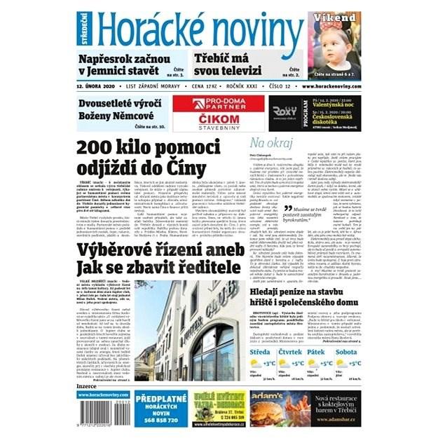 Horácké noviny - Středa 12.2.2020 č. 012 - Elektronické noviny