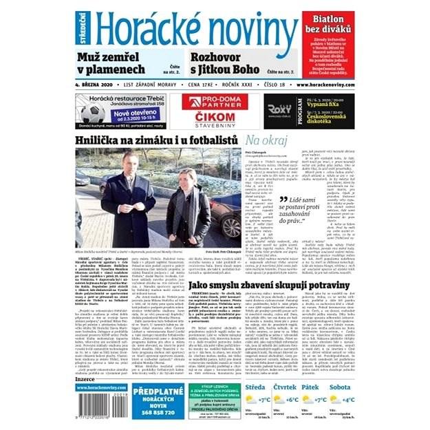 Horácké noviny - Středa 4.3.2020 č. 018 - Elektronické noviny