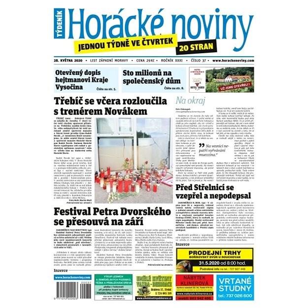 Horácké noviny - Čtvrtek 28.5.2020 č. 037 - Elektronické noviny