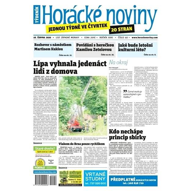Horácké noviny - Čtvrtek 18.6.2020 č. 040 - Elektronické noviny