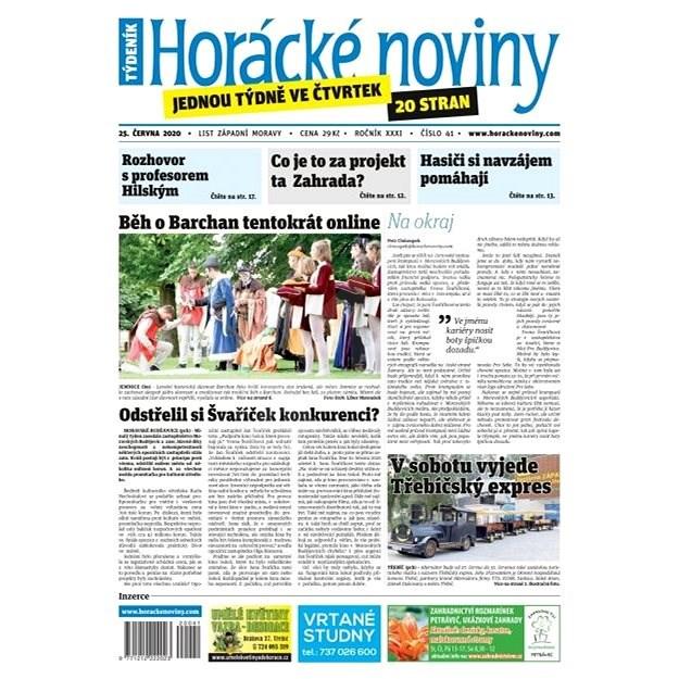 Horácké noviny - Čtvrtek 25.6.2020 č. 041 - Elektronické noviny