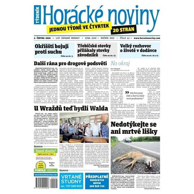 Horácké noviny - Čtvrtek 2.7.2020 č. 042 - Elektronické noviny