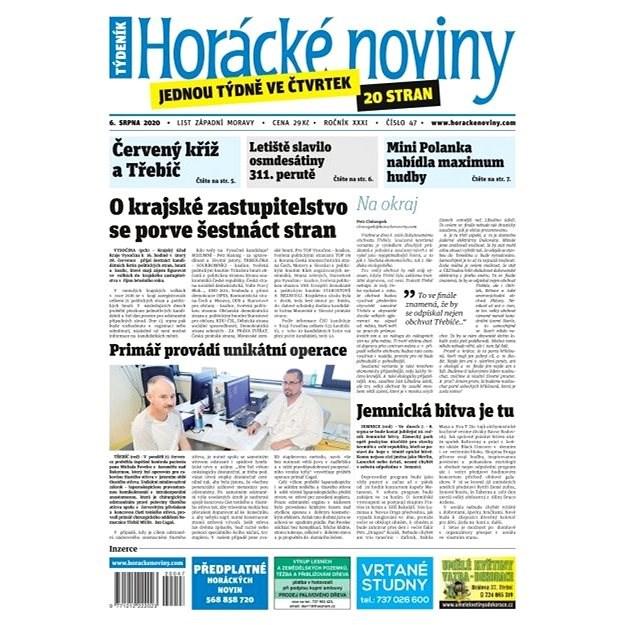 Horácké noviny - Čtvrtek 6.8.2020 č. 047 - Elektronické noviny