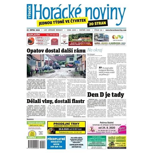 Horácké noviny - Čtvrtek 27.8.2020 č. 050 - Elektronické noviny