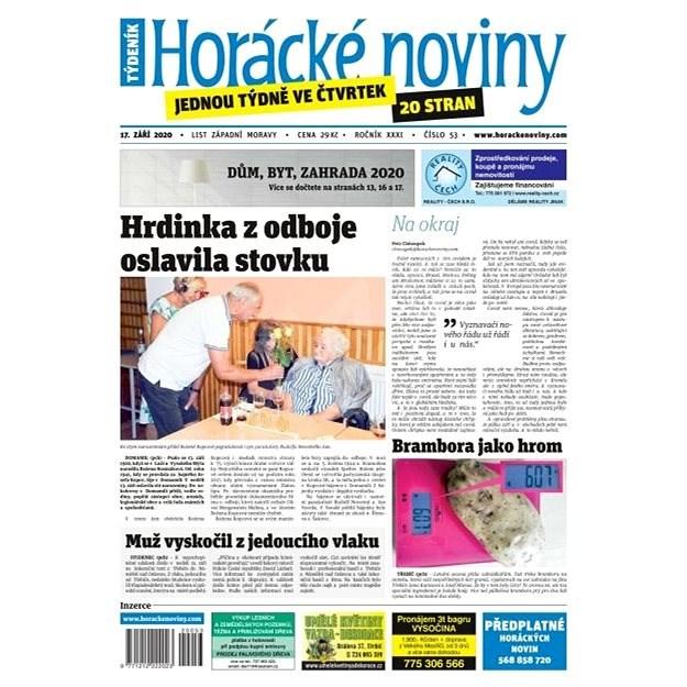 Horácké noviny - Čtvrtek 17.9.2020 č. 053 - Elektronické noviny