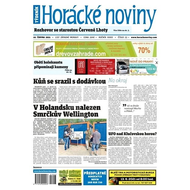 Horácké noviny - Čtvrtek 10.6.2021 č. 023 - Elektronické noviny