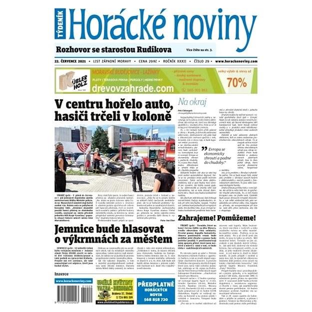 Horácké noviny - Čtvrtek 22.7.2021 č. 029 - Elektronické noviny