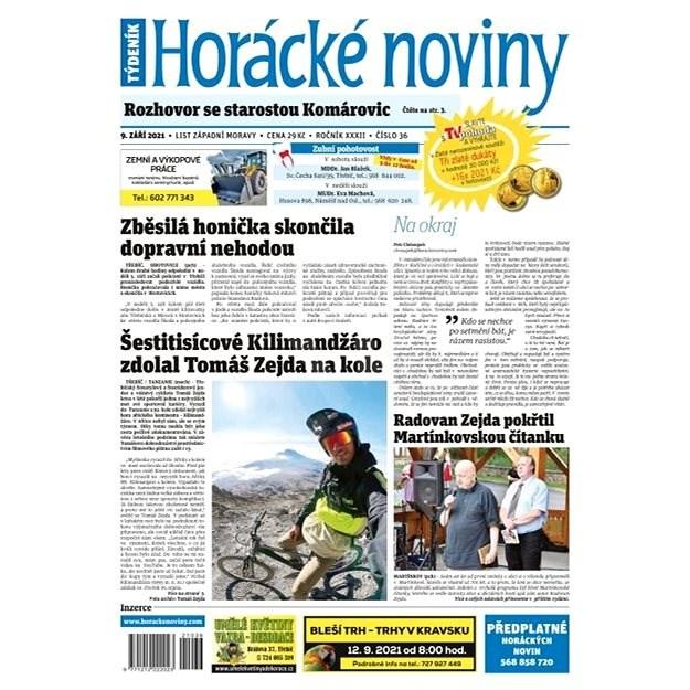 Horácké noviny - Čtvrtek 9.9.2021 č. 036 - Elektronické noviny