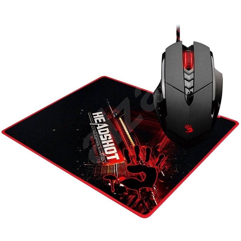 A4tech Bloody V7 V-Track Core 2 kovové pojezdy + podložka B-071 - Herní myš