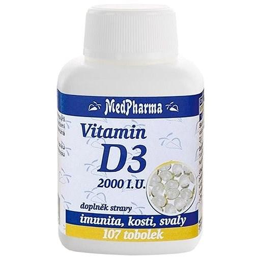 MedPharma Vitamin D3 2000 I.U., 107 tobolek - Vitamín D