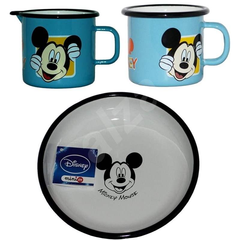 Metalac Smaltovaná sada 3ks , dekor Disney Mickey Mouse - Sada hrnců