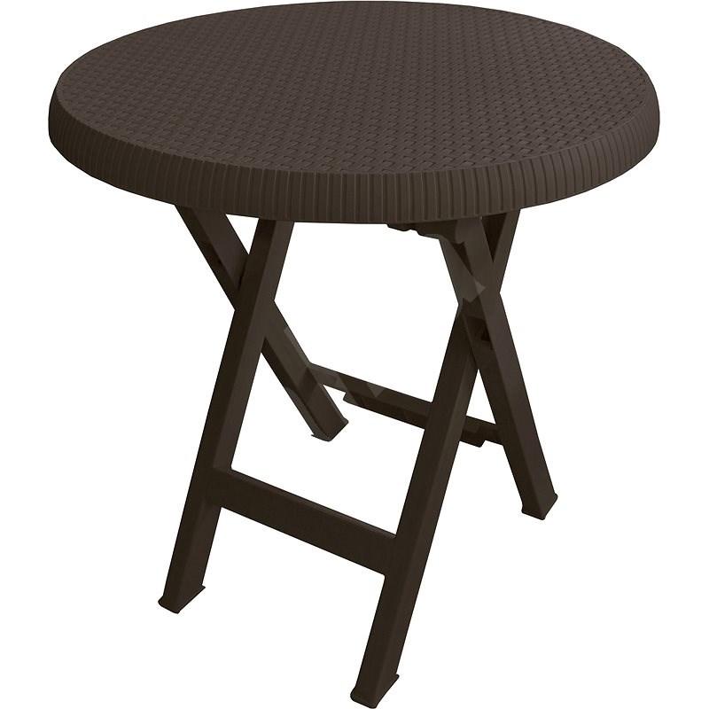 MEGAPLAST Teo skládací O 70 cm, wenge - Zahradní stůl