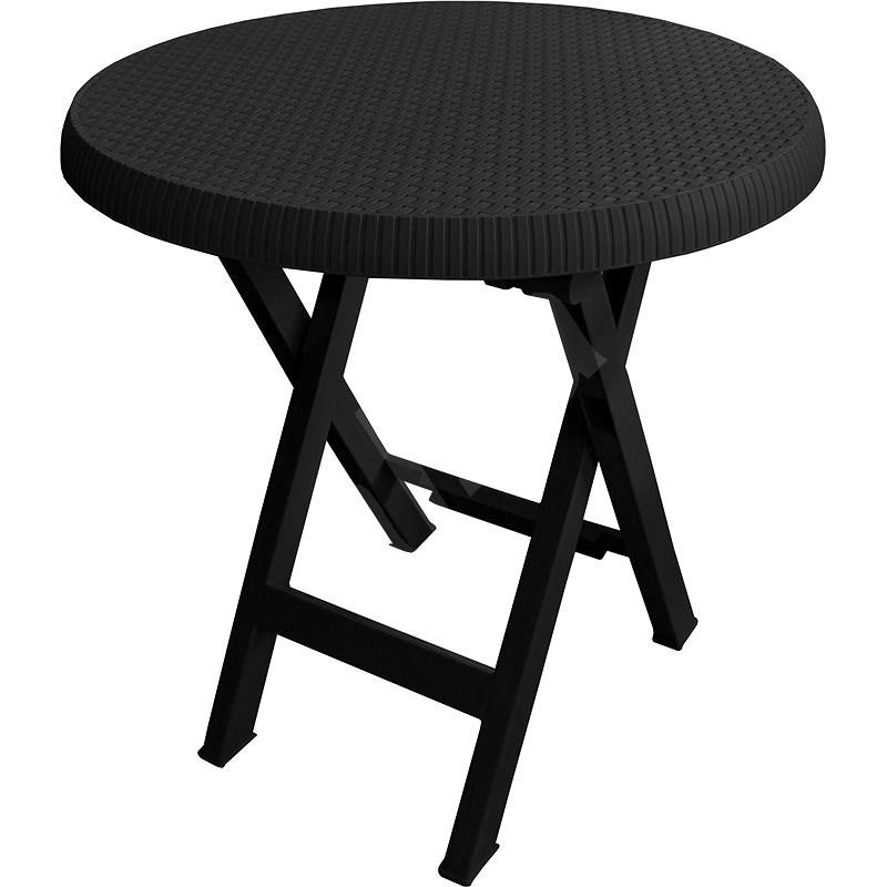 MEGAPLAST Teo skládací O 70 cm, antracit - Zahradní stůl