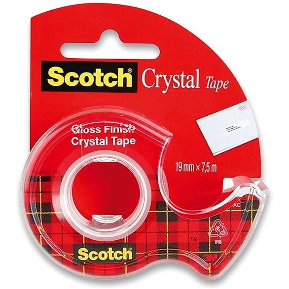 3M Scotch 19 mm x 7,5 m, krystalicky čirá,  - Lepicí páska