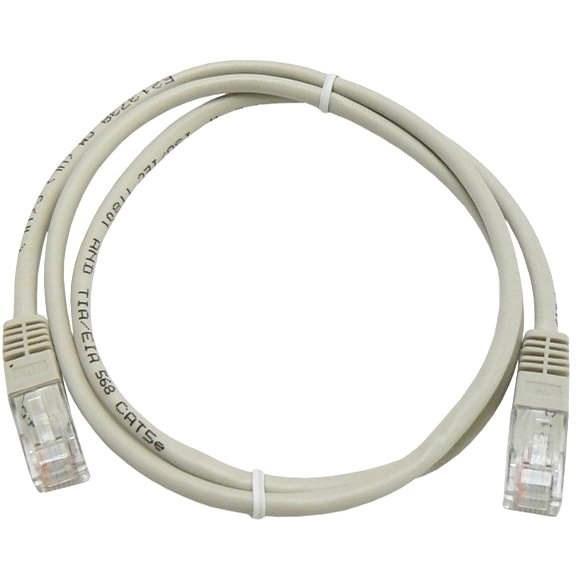 Datacom CAT5E UTP šedý 1m - Síťový kabel